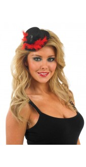 Glitter Black And Red Top Hat