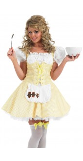 Ladies Sexy Yellow Goldilocks Costume