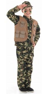 Kids Army Boy Costume