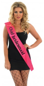 Pink Chief Bridesmaid Sash