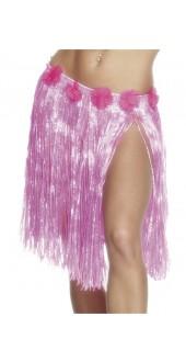 Hawaiian Hula Skirt, Neon Pink