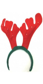 Reindeer Antler Headband With Lights And Music