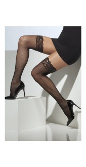 Black Lace Top Fishnet Stockings