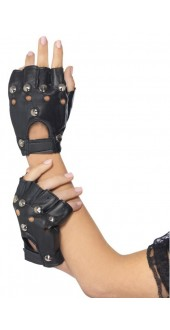 Adult Black Punk Gloves