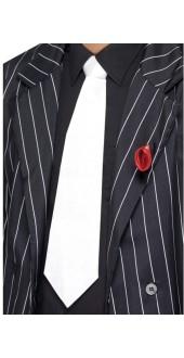 White 1920s Gangster Tie