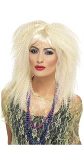 80s  Trademark Crimp Wig Blonde