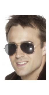 Silver Frame Aviator Glasses