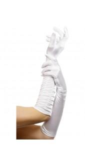 Long White Temptress Gloves