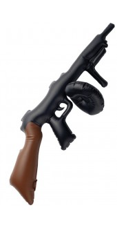 Inflatable Tommy Gun Black
