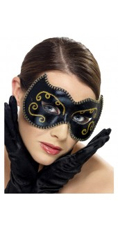 Black And Gold Persian Eye Mask