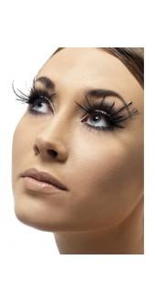Eyelashes With Black Corner Feather Plumes