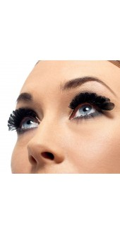 Black Small Feathered Eyelashes