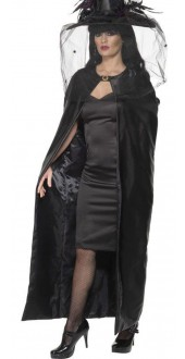 Black Deluxe Witches Cape