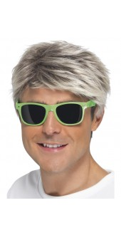 Green 80's Neon Glasses