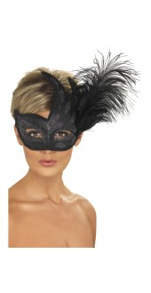Black Colombina Mask