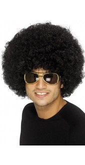 70s Funky Afro Black