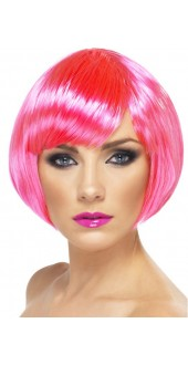 Babe Wig Neon Pink