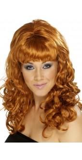60s Beehive Beauty Wig Auburn