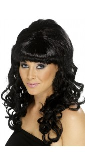 60s Beehive Beauty Wig Black
