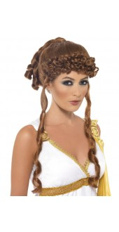 Greek Brown Goddess Wig