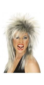 Rock Diva Wig Black And Blonde