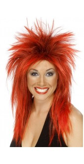 Rock Diva Wig Red And Black