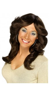 70s Flick Wig Brown