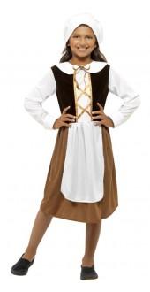 Girls Tudor Girl Costume