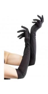 Ladies Long Black Gloves