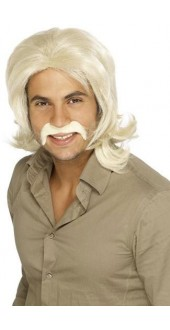 70`s Guy Wig Blonde Bee Gee Fancy Dress