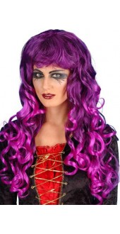 Purple And Black Siren Wig Fancy Dress Smiffys