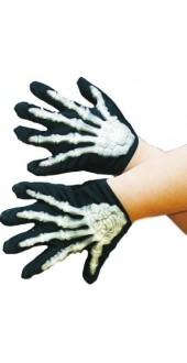 Gloves - Skeleton Gloves With Bones - Childs smiffys
