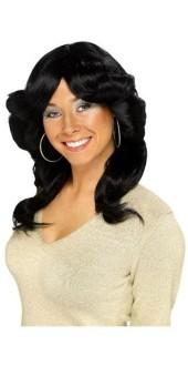 70S Flick Wig Black