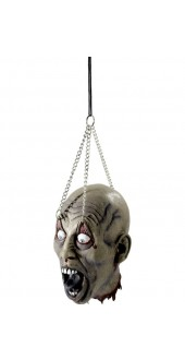 Dismembered Latex Head With Hanging Chains