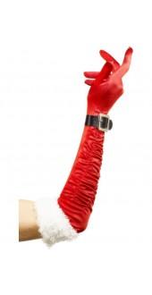 Long Santa Gloves