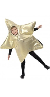 Childs Christmas Star Costume Small Age 4-6