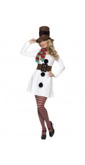 Smiffy's Adult Ladies Christmas Snowman Costume