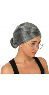 Grey Granny Fancy Dress Wig