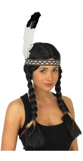 Indian Squaw Fancy Dress Wig