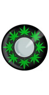 Cannabis Leaf Contact Lenses