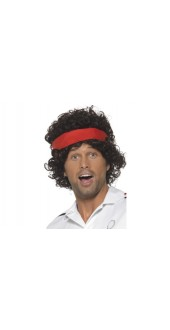 80s Tennis Player Fancy Dress Wig