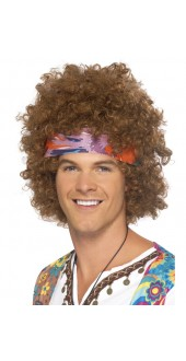 Mens 70s Afro Fancy Dress Wig