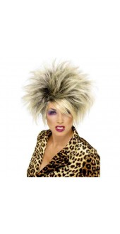 Ladies 1980s Fancy Dress Wild Child Wig