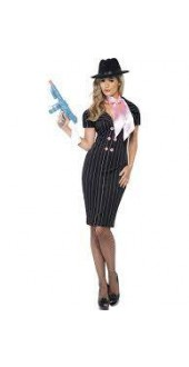 Gangsters Moll Fancy Dress Costume