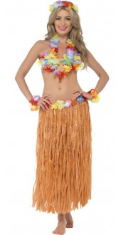 Ladies Hula Honey Hawaiian Fancy Dress Kit