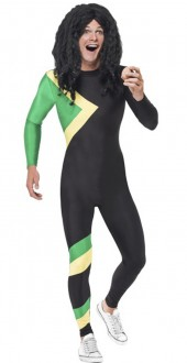 Mens Jamaican Hero Second Skin Fancy Dress Costume