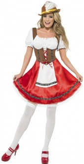 Ladies Bavarian Wench Fancy Dress Costume