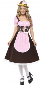 Ladies Longer Length Swiss Tavern Girl Fancy Dress