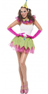 Ladies Fever Clown Fancy Dress Kit