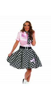 Ladies 1950s Rock N Roll Girl Fancy Dress Costume